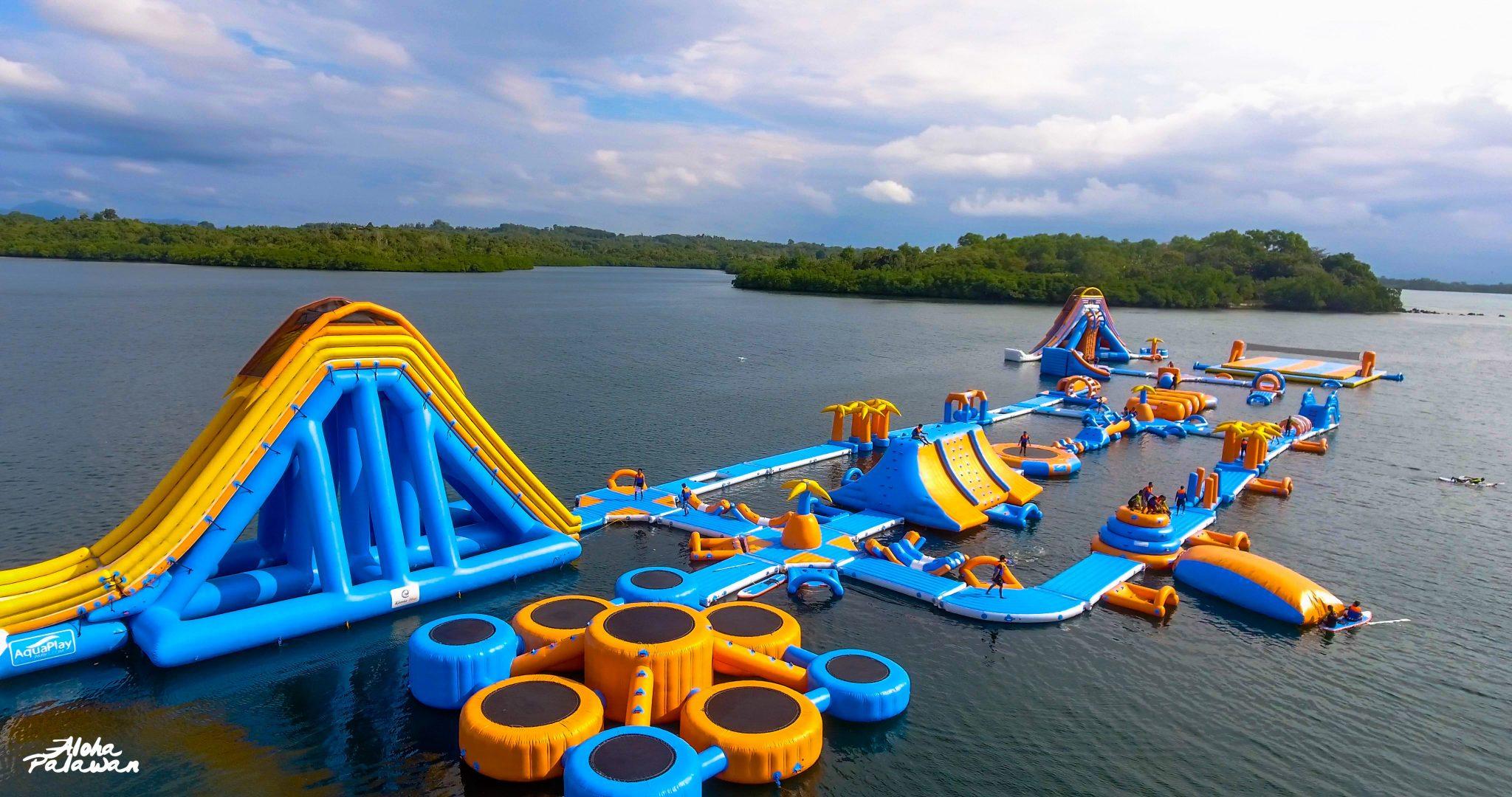 Inflatable Island in Kamia Bay Resort